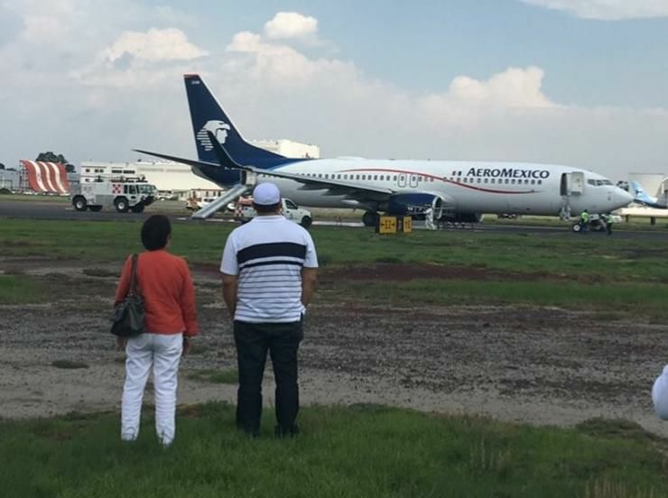 Evacúan vuelo de Aeroméxico por falla de avión