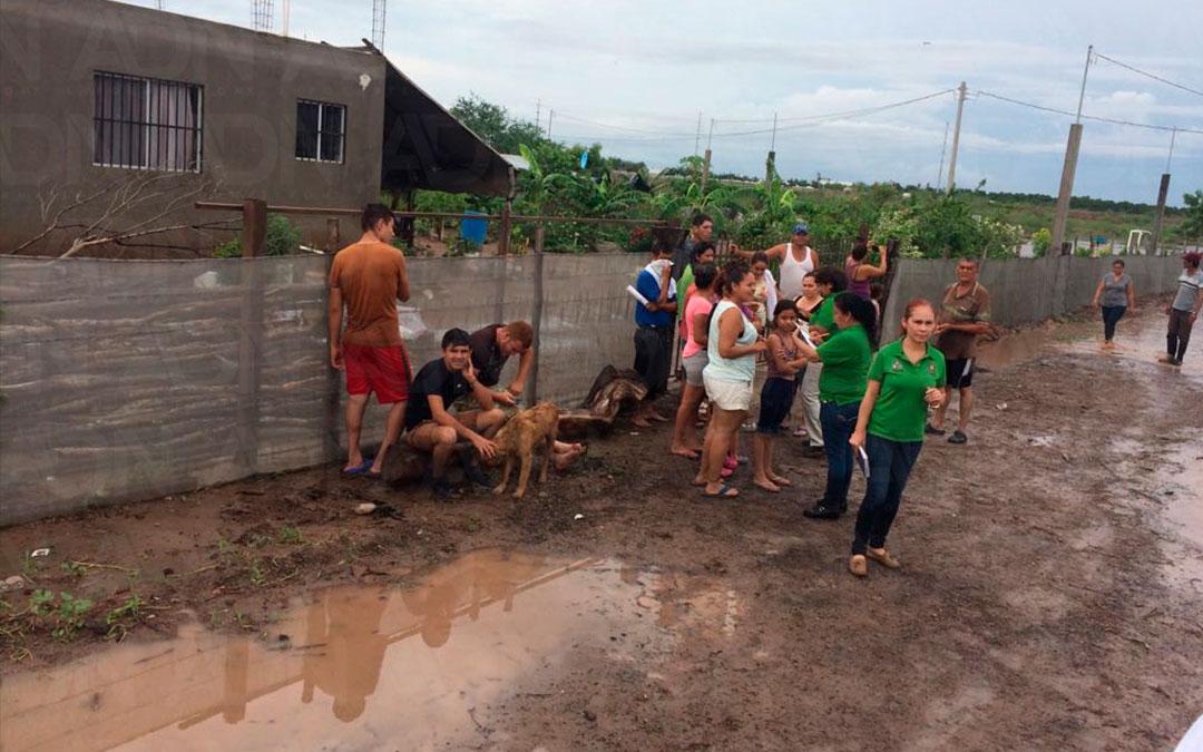 110 Familias se inundan en Aguaruto
