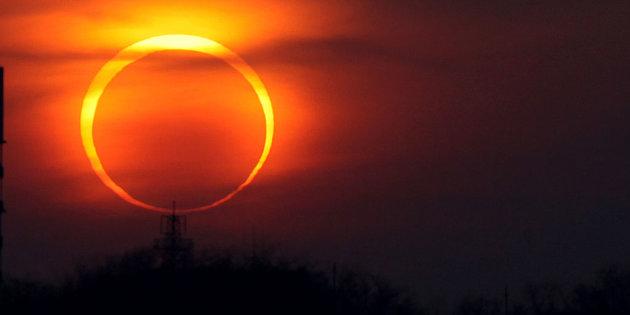 Las 11:34, hora del eclipse en Culiacán
