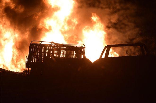Se incendia ducto en Caitime